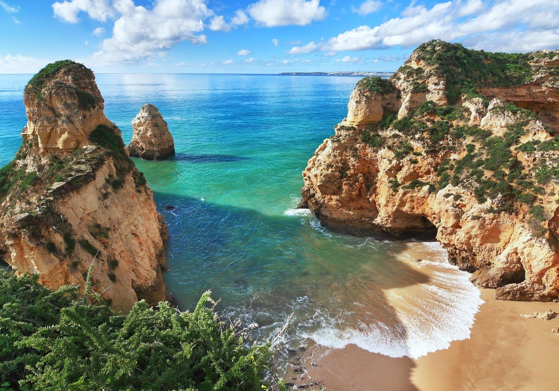 Wandmotiv24 Fototapete Schöne Aussicht auf auf auf die Küste von Portugal M0882 XL 350 x 245 cm - 7 Teile Wandbild - Motivtapete B076CMGXWB Wandtattoos & Wandbilder 3f61c2