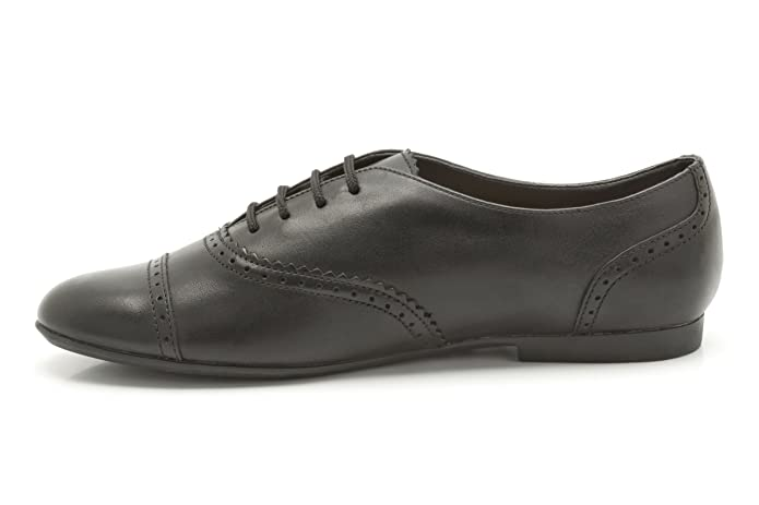 Clarks Girls School No Ties Leather Shoes In Black Standard Fit Size 8.5:  Amazon.co.uk: Shoes & Bags