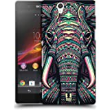 Head Case Designs Elephant Aztec Animal Faces 2 Hard Back Case for Sony Xperia Z / C6603 / C6602