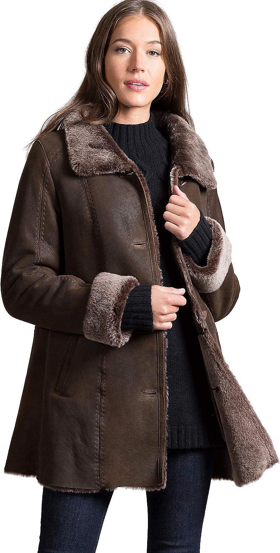 2e1364c37 Maggie Shearling Sheepskin Coat at Amazon Women's Coats Shop
