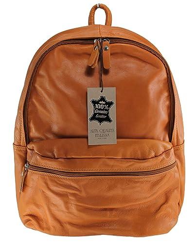 Damen Leder Rucksack aus Italien cuoio MainApps Zeta Shoes rNcDVs
