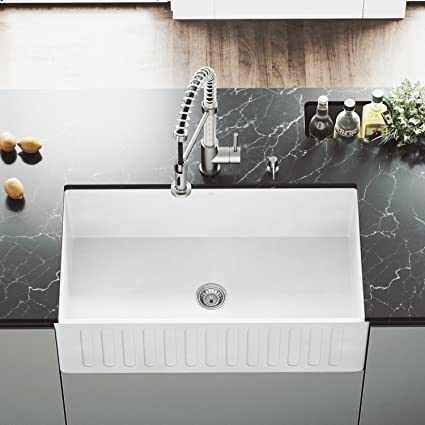 Vigo Vgra3318cs 33 X 18 X 9 5 8 Undermount Farmhouse Kitchen Sink