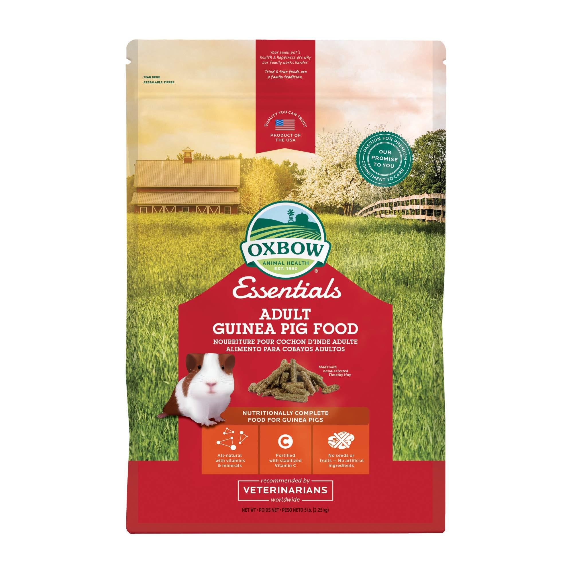 Oxbow Essentials Adult Guinea Pig Food - All Natural Adult Guinea Pig Pellets - 5 lb.