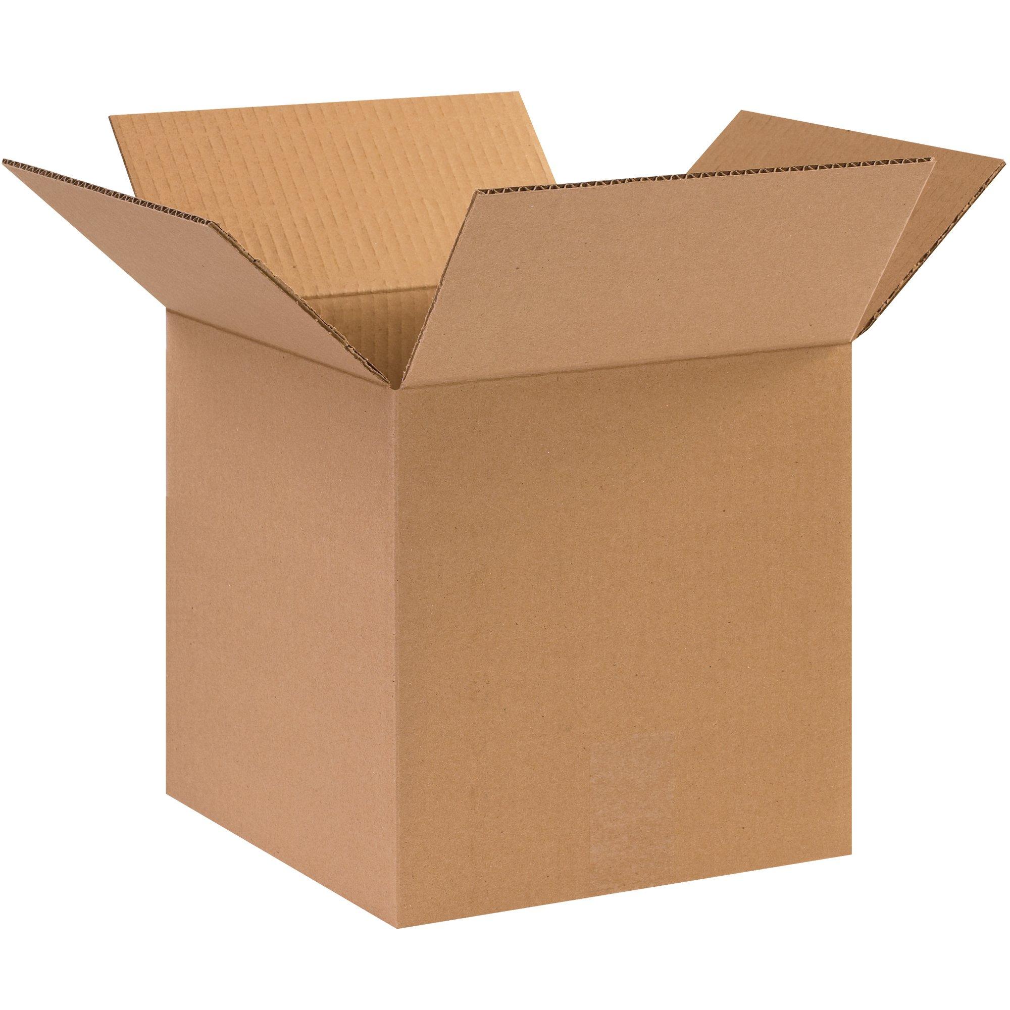 BOX USA B1010101000PK Corrugated Boxes, 10''L x 10''W x 10''H, Kraft (Pack of 1000)