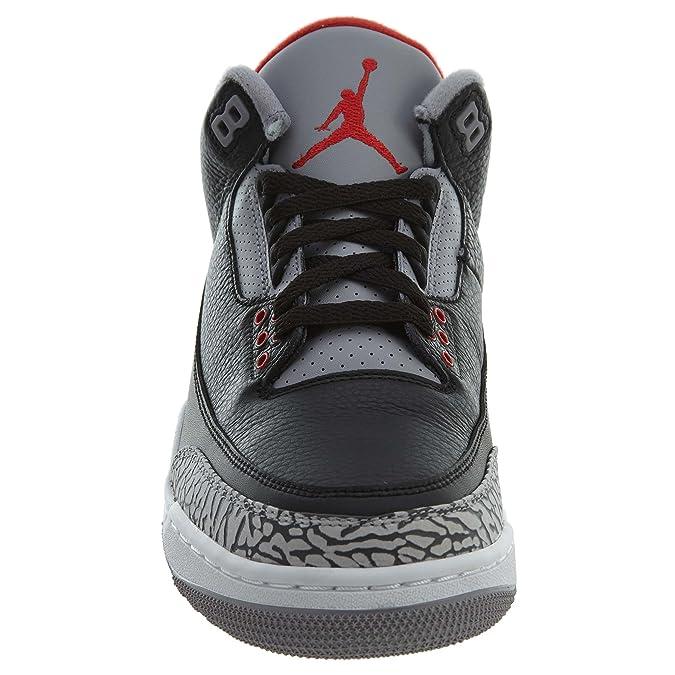 new concept 8c23e 18acb Amazon.com   Jordan Men s Air 3 Retro OG, Black Cement, 9 US   Fashion  Sneakers