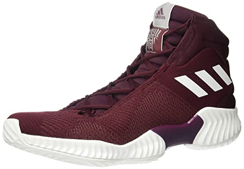 Basketball Shoe, Maroon/White/Maroon