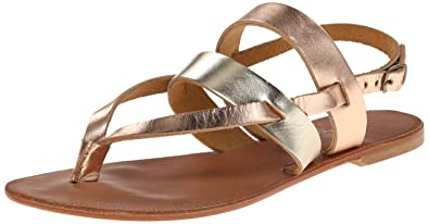 Joie Women's Positano Flat Sandal, Platinum/Rose Gold, 35 EU/5 M