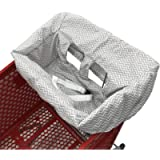 Shopping Cart Cover | High Chair and Grocery Cart Cover for Babies, Kids, Infants (Gray Chevron)
