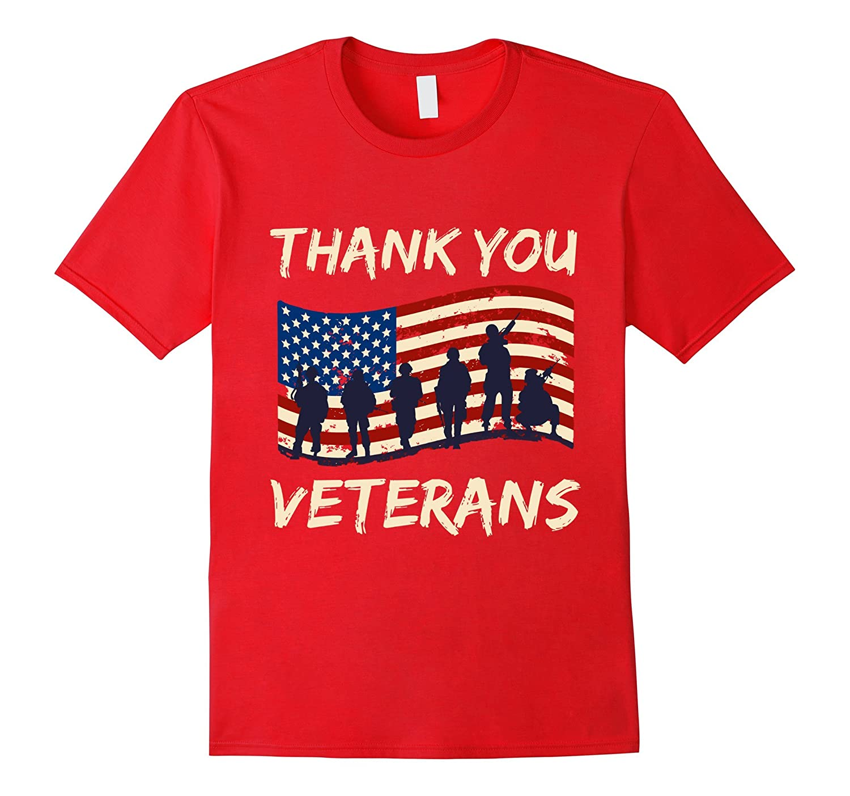 Thank You Veterans Veterans Day T Shirt-Rose
