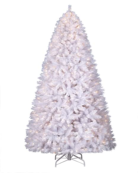 huge selection of 0a510 4a3cf Treetopia Winter White Christmas Tree, 7 Feet, Clear Lights