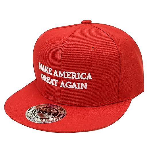 CITY HUNTER Cf918 Trump Make America Great Again Snapback Cap Red at ... 51f1de35cd9