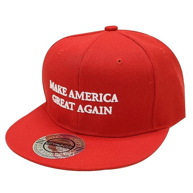 CITY HUNTER Cf918 Trump Make America Great Again Snapback Cap Red at ... cfb50a129c9