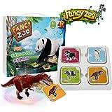 Flashcards Tarjetas Educativas AR&4D Tarjetas de Aprendizaje Juego de Tarjetas Educativo de Animales Soporte de Modo VR con 13 Idiomas para Niños de Hasta 6 Niños (68 piezas)