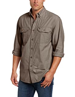 3fc0c68c3fe Carhartt Men s Long-Sleeve Lightweight Chambray Button-Front Relaxed-Fit  Shirt S202