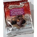 Winternacht Gefullte Herzen Zartbitter Traditional German Cookies Heart-shaped Soft Gingerbread Covered in Dark Chocolate wit