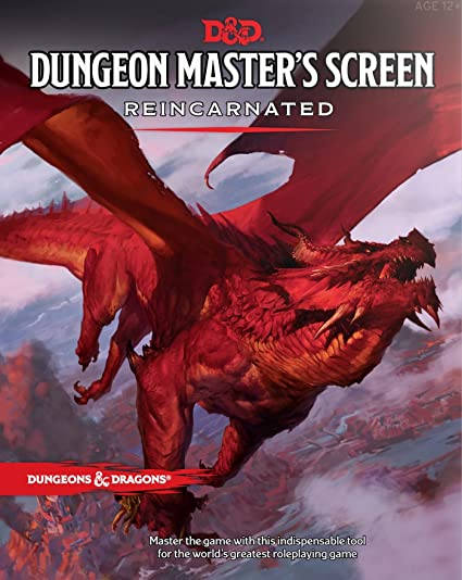 Amazoncom Dungeon Masters Screen Reincarnated Dungeons Dragons