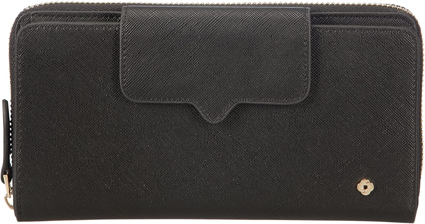 Black 19 cm Nero Miss Journey SLG Large Wallet for 18 Creditcards 0 liters Zip Extension Porta carte di credito