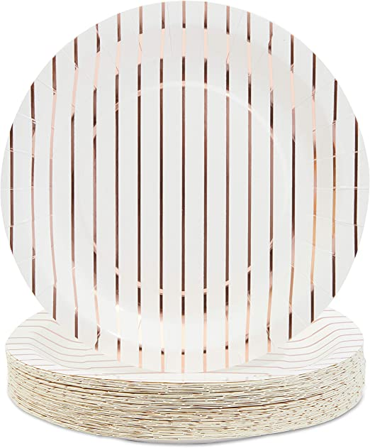 Amazon.com: Platos desechables – 48 platos de papel ...