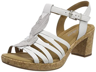 Womens Metallic Leather Uppers Ankle Strap Sandals Gabor KiDKgQQVl