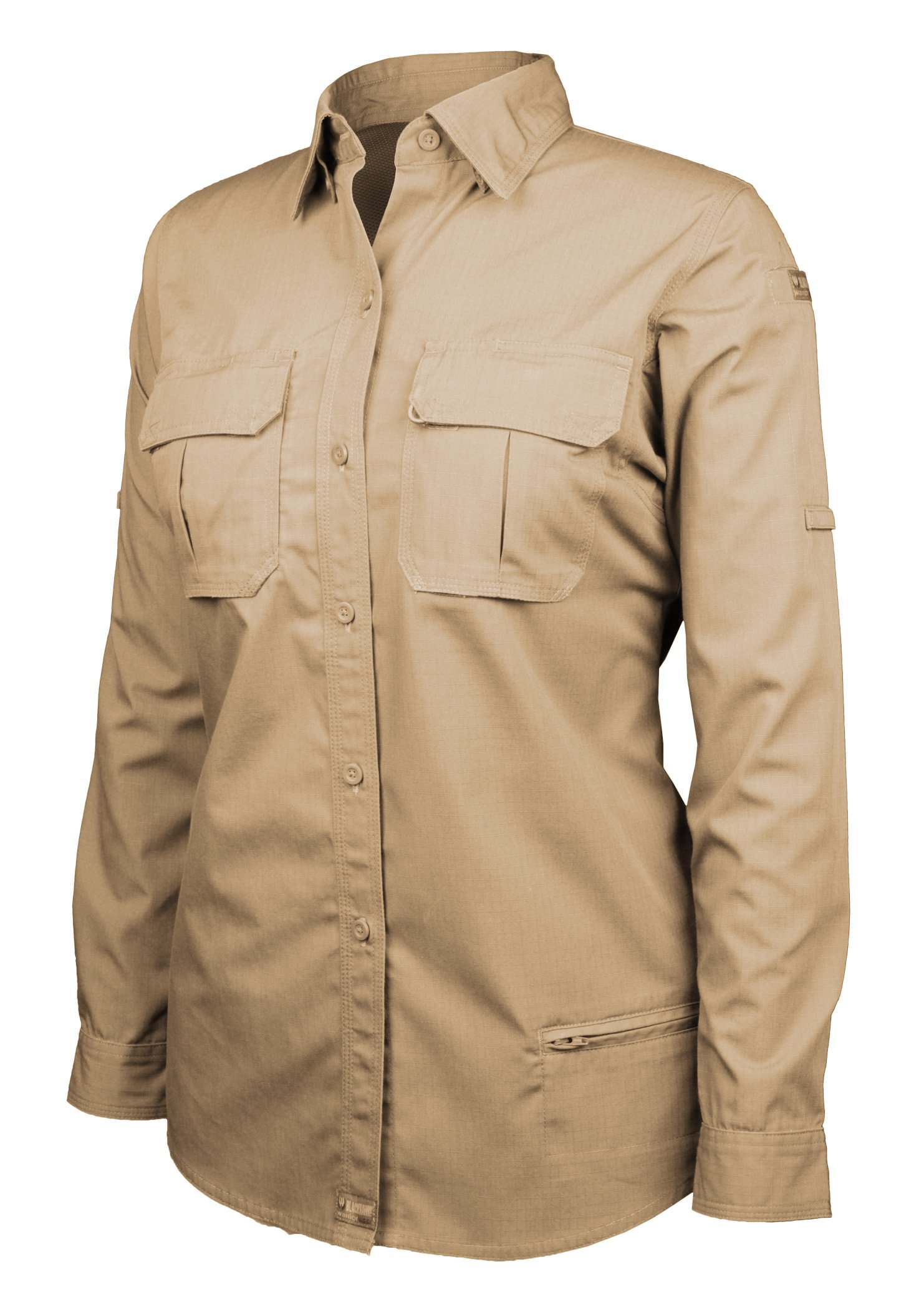 Blackhawk! Women's Lightweight Tactical Long Sleeve Shirt, Khaki, Large by BLACKHAWK!