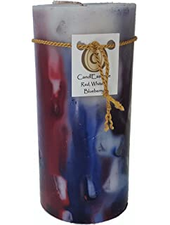 Amazoncom Patriotic Pillar Candle Home Kitchen