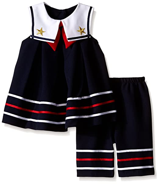6405689fb43c Bonnie Baby Baby Girl's Nautical Dress and Legging Set, Navy, 12 Months