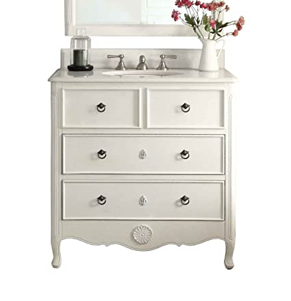 "34"" Cottage look Daleville Bathroom Sink vanity- HF081AW (Antique White) - 34"