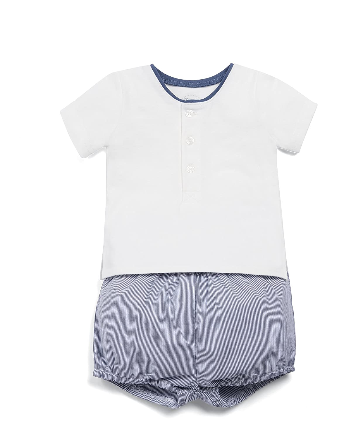 Mamas & Papas Baby Boys' Tee and Seersucker Short Set Clothing