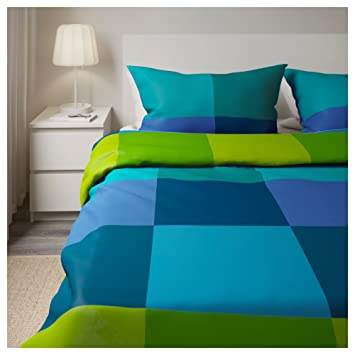 Ikea Brunkrissla Twin Duvet Cover And Pillow Case Bluegreen