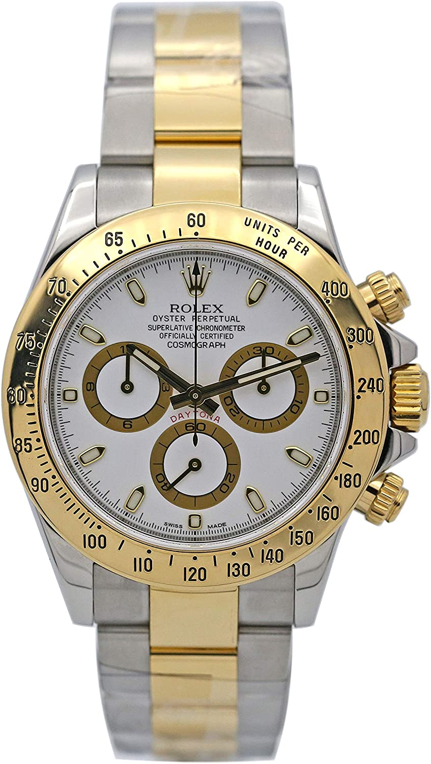 Amazon.com: Rolex Daytona Grey Chronograph Steel And Yellow Gold ...