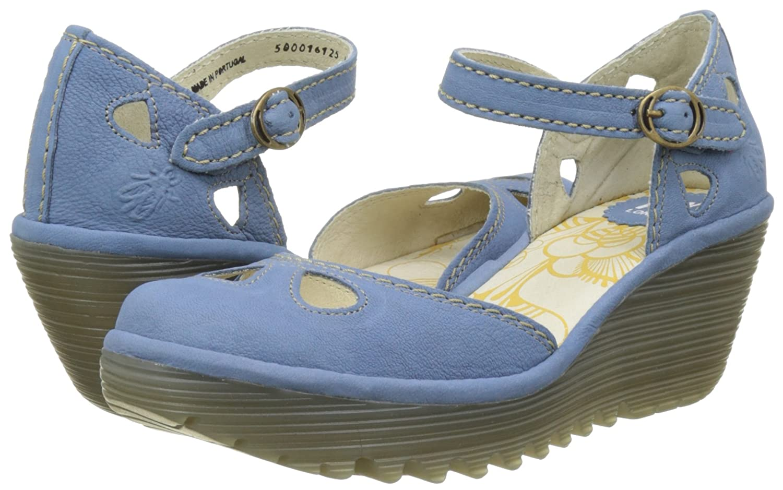 Fly London Yuna Azul Zapatos de Tac/ón para Mujer Smurf 125 40 EU