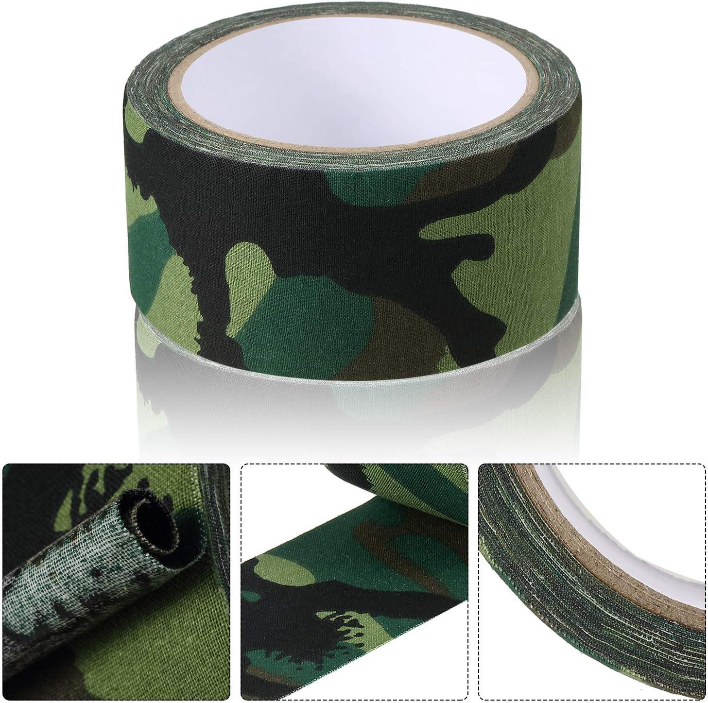 Outus Cinta de Tela Verde Camuflaje 5 cm x 10 m Cinta Adhesiva de Sellado de Costuras para Reparaci/ón de Correas