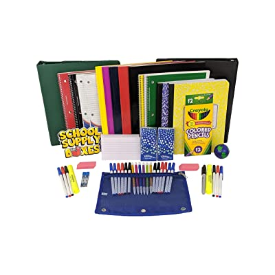 "Secondary School Essentials Back to School Kit - School Supplies Bundle Includes 1"" Binder, Folder, Notebook, Filler Paper, Mechanical Pencil, Note Card, Black & Blue Pen, Stress Ball - 51 Pieces: Toys & Games"