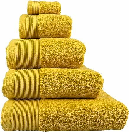 Homescapes - Toalla, algodón egipcio 700 g/m², suave y absorbente, color dorado, algodón egipcio, Ocre, Essuie-mains 50 x 90 cm: Amazon.es: Hogar