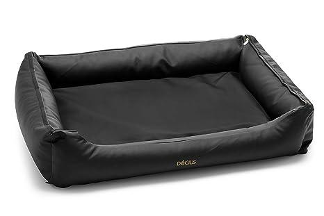 dogius cama de lujo de perros Negro Piel Sintética con sistema de cambio de techos