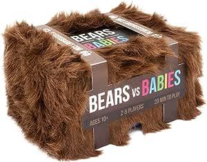 Exploding Kittens BVB-CORE Bears vs Babies Card Game,Brown