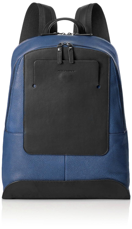 PIQUADRO Backpack THAMES Male Leather Blue black - CA4015S90-N B06X9CMLLL