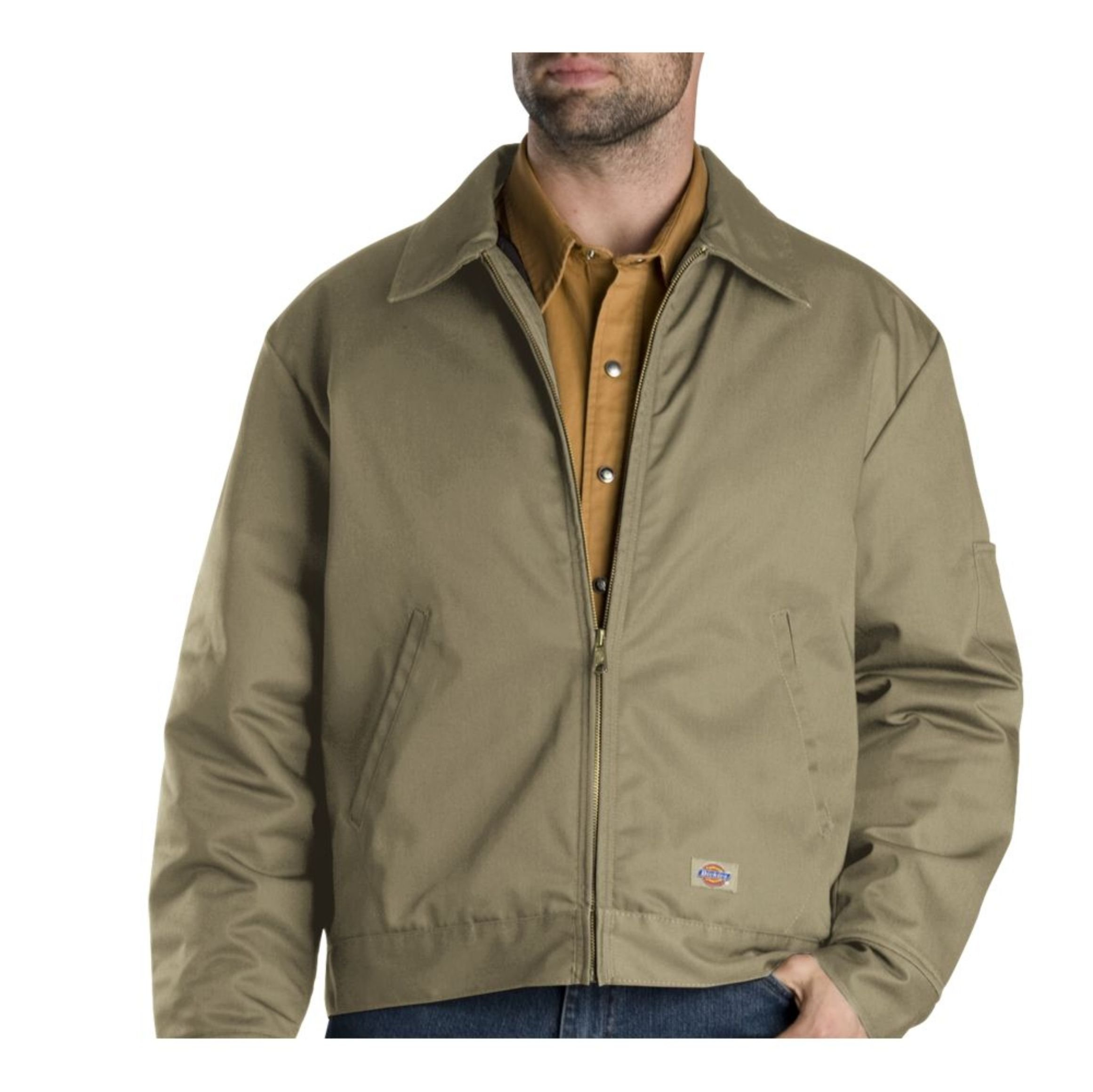 Dickies Men's Big-Tall Insulated Eisenhower Jacket, Khaki, XXXX-Large by Dickies