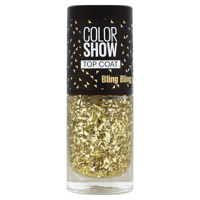 Maybelline New York Colorshow - Top Coat - 95 BLING BLING - Paillettes dorées GEMEY MAYBELLINE MYB00987 top coat paillettes dorées