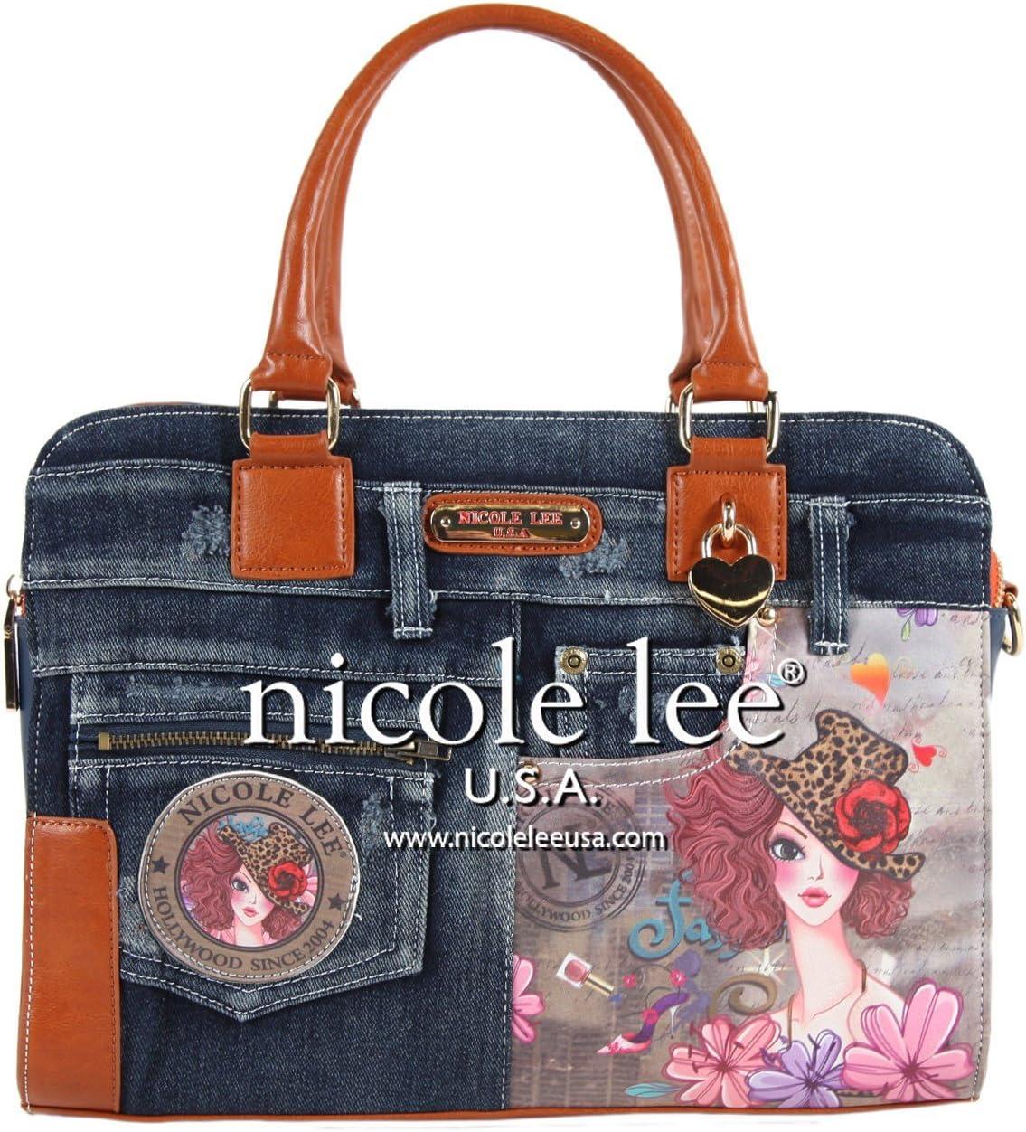 Nicole Lee Wanda Denim Print Business Briefcase, Sunny, One Size