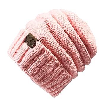 2233949fef1 Gome-z 13 colors Unisex Winter Knitted Wool Cap Women Men Folds Casual CC  labeling