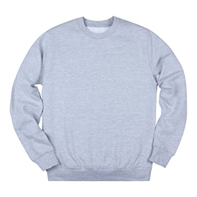 Strand Clothing Plain Crew Neck Sweatshirt - Unprinted - Crewneck Long  Sleeve Shirt Jumper  3f9e2485b4c6