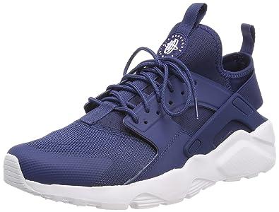 sports shoes 4a0e9 a2b61 Nike Air Huarache Run Ultra, Baskets Homme, Blanc (Navy White 409)