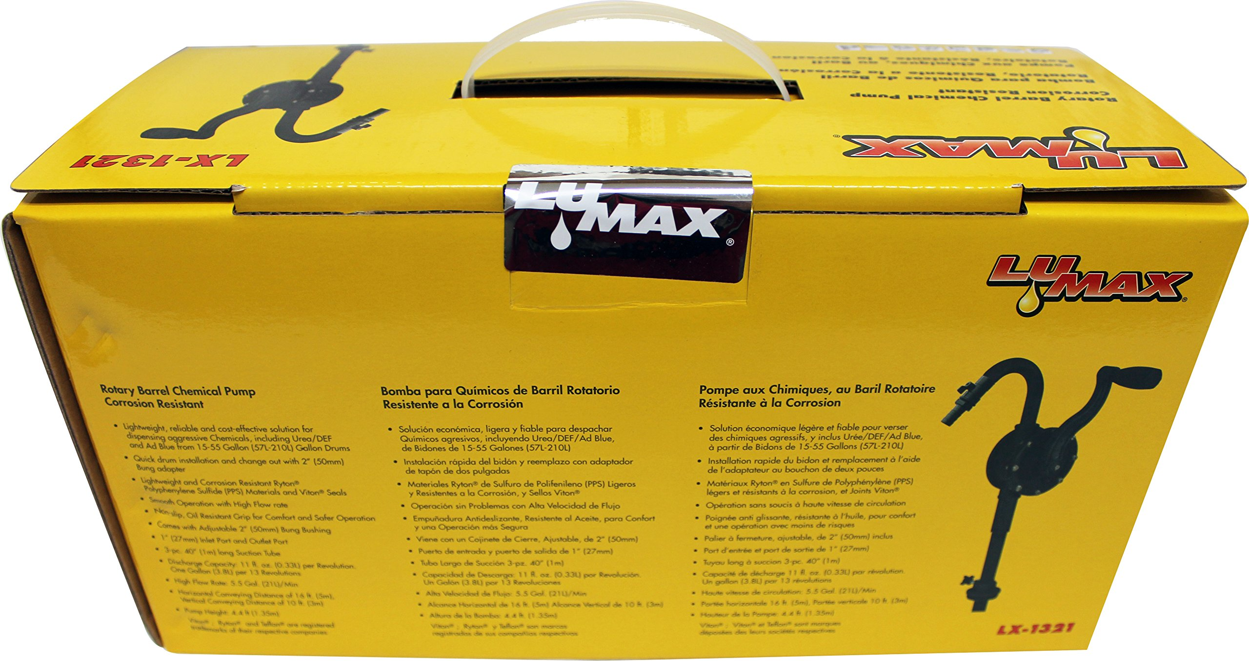 Lumax LX-1321 Black Corrosion Resistant Rotary Barrel Pump by Lumax (Image #4)