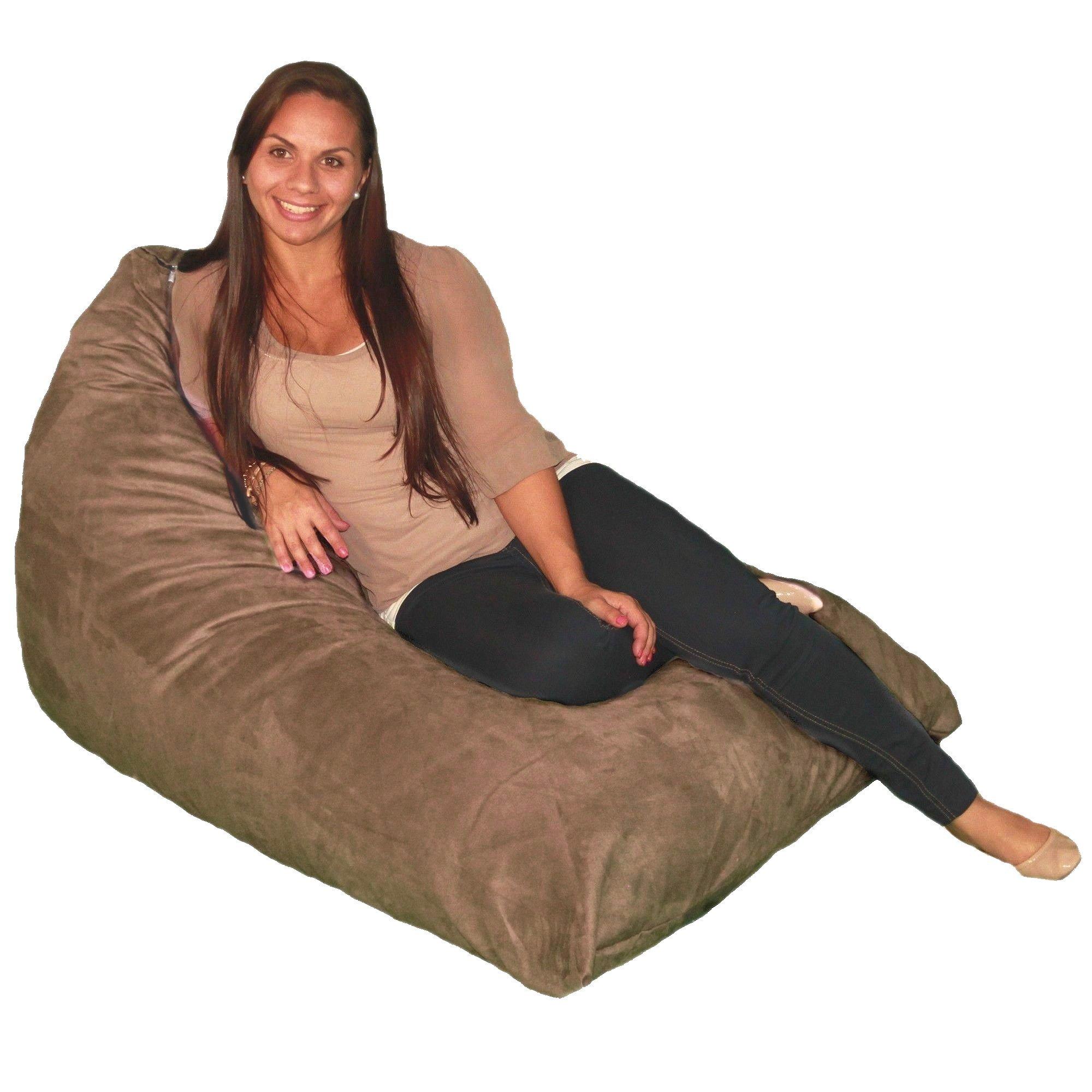 Bean Bag Chair Premium Cozy Foam Filled Cozy Lounger medium Earth