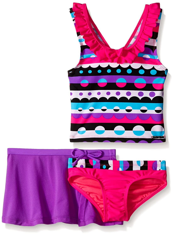 ZeroXposur Girls' Bubbleicious Tankini Swimsuit with Skirt 8344
