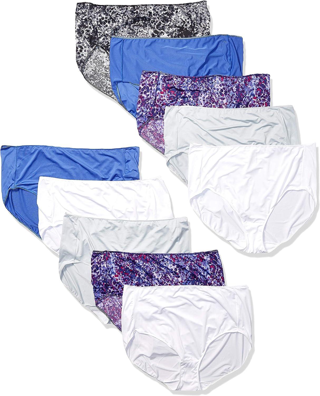 Hanes Calzoncillos de Microfibra, cómodos, para Mujer, Paquete de 10: Amazon.es: Ropa y accesorios