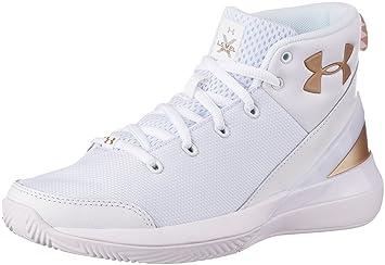 7a8a84525fc1a Under Armour UA BGS x Level Ninja - Chaussures Basket Enfant - 1296005 106,  1296005