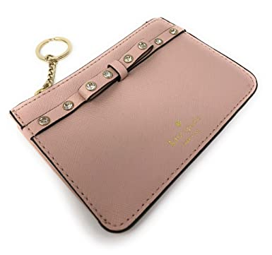 a65a3bbea2d81 Image Unavailable. Image not available for. Color  Kate Spade New York  Laurel Way Bitsy Card Case Wallet Key Ring Jeweled Warmvellum