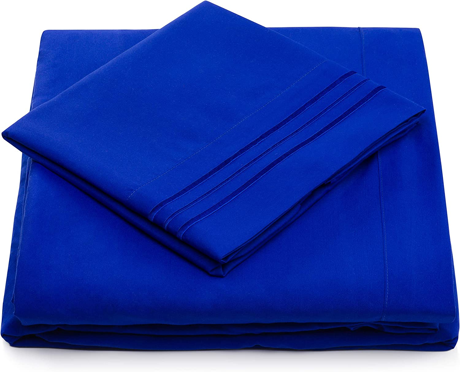 California King Size Bed Sheet Set - Royal Blue Cal King Bedding - Deep Pocket - Extra Soft Luxury Hotel Sheets - Hypoallergenic - Cool & Breathable - Wrinkle, Stain, Fade Resistant - 4 Piece